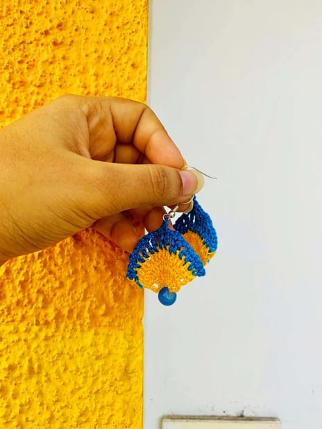 Earring Jewellery Blue-Yellow | smiarts