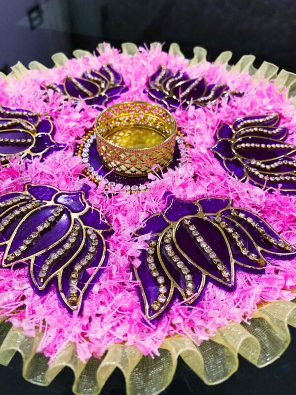 Lotus Print Rangoli For The Floor Decoration | Smiarts