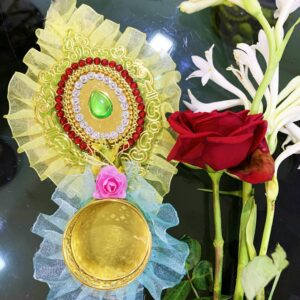 Multi Color Green Stone Diya | Smiarts