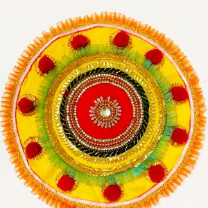 Smiarts Handicraft Decorative Rounded Rangoli Set (Multicolor) | Smiarts