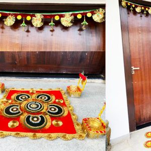 Smiarts Artificial Door Toran /Door Hanging for Decoration/Rangoli For Floor/Diya for worship (Multicolor) | Smiarts