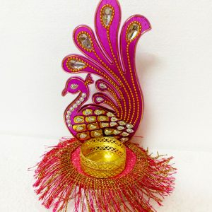 Smiarts Peacock Shape Tealight Candle Holder (Dark Pink) | Smiarts