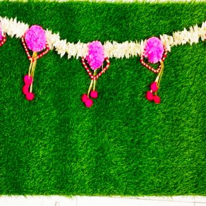 Smiarts Artificial Door Toran /Door Hanging for Decoration (White, Red & Pink) | Smiarts