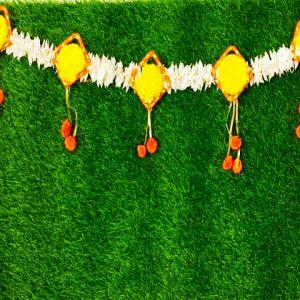 Smiarts Artificial Door Toran /Door Hanging for Decoration (Yellow, White & Orange) | Smiarts