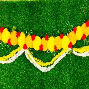 Smiarts Artificial Door Toran /Door Hanging for Decoration (Yellow, Orange & Red) | Smiarts