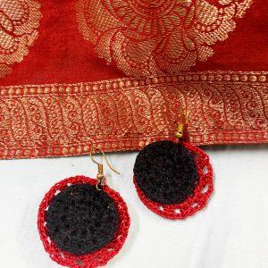 Smiarts Cherry, Black Colour Fancy Handmade Earring | Smiarrts