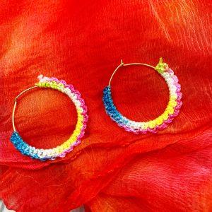 Smiarts Handmade Ring Shape Fancy Multi-color Earring | Smiarts