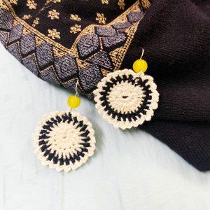 Smiarts White, Black Colour Fancy Handmade Earring | Smiarts